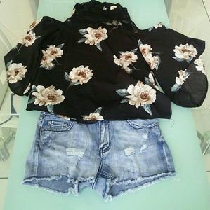 Blouse and short outfit